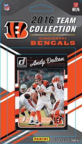 Card Cincinnati Bengals - Cincinnati Bengals 2016 Donruss NFL Football Factory Sealed Limited Edition 11 Card Complete Team Set with Andy Dalton,Adam Jones,A.J. Green, Tyler Boyd Rookie & Many More! Shipped in Bubble Mailer!