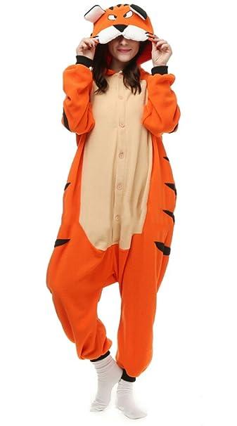 Fandecie Pijama Tigre de Bengala, Onesie Modelo Animales para adulto entre 1,60 y 1,75 m Kugurumi Unisex.: Amazon.es: Ropa y accesorios