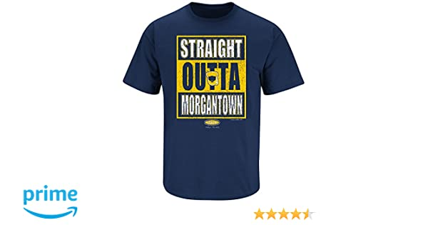 e502369f Amazon.com : Smack Apparel West Virginia Football Fans. Straight Outta  Morgantown. Navy T Shirt (Sm-5X) : Sports & Outdoors