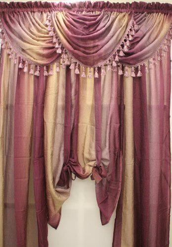 (The_Curtain_Shop Ombre Aubergine Scarf )