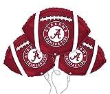 Alabama Crimson Tide College Football Mylar Balloon 3 Pack