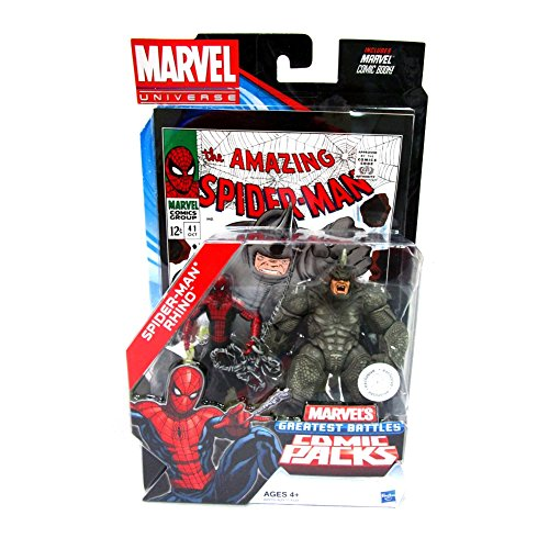 Marvel Universe Spider-Man & Rhino Exclusive Comic Pack Includes Comic Book