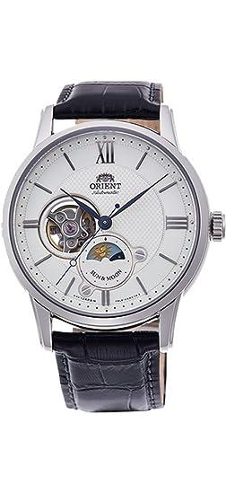 Orient RA-AS0005S10A - Reloj de pulsera automático para hombre con correa de piel de corazón, color plateado: Amazon.es: Relojes