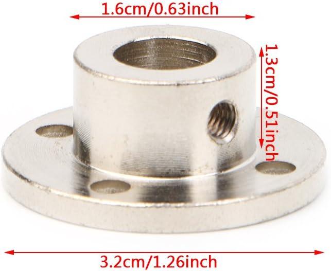 FATTERYU 10 mm starrer Flansch Kupplung Motor F/ührungswellenkupplung Motoranschluss 10/mm