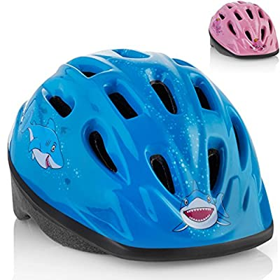 KIDS Bike Helmet – Adjustable from Toddler to Youth Size, Ages 3-7 - Durable Kid Bicycle Helmets with Fun Aquatic Design Boys and Girls will LOVE - CSPC Certified for Safety and Comfort - FunWave by TeamObsidian
