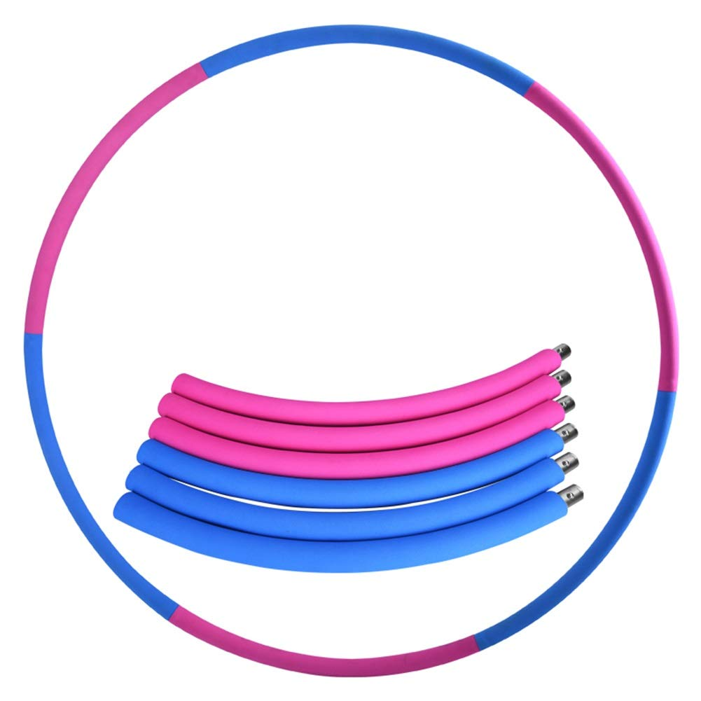 Hula Hoops Thin Waist Female Adult Weight Loss Circle Abdomen Aggravation Detachable HUYP (Color : Blue) by Hula Hoops