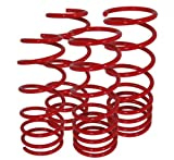 01 honda prelude lowering springs - Honda Prelude S Si Type-SH BB2-BB6 Suspension Racing Coil Drop Lower Lowering Sport Spring Kit Red