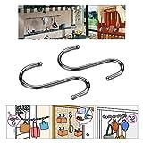 Stainless Steel S Shape S-hooks 7.2cm Length Hook Hanger Kitchen Holder Portable Hanging Hooks 2pcs/pack
