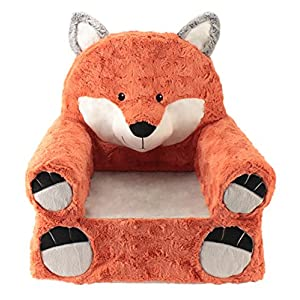 Sweet Seats | Orange Fox Children's Chair | Large Size | Machine Washable Cover