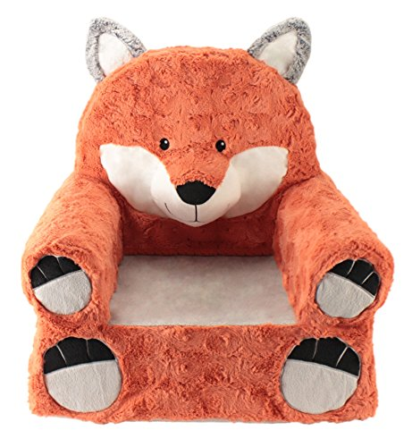 Animal Adventure Sweet SeatsOrange Fox Children's ChairLarge SizeMachine Washable Cover