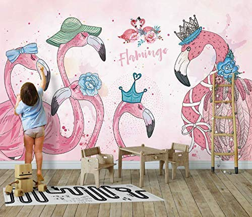 Amazon Com Murwall Flamingo Wallpaper Kids Flamingo Wall Murals
