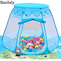 Gucilaly Kids Pop Up Playhouse Tent Foldable Into A Carrying Bag Prince Princess Castle Game Tent for Indoor Outdoor Fun