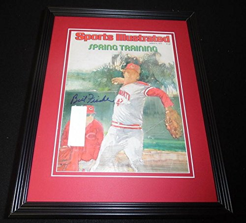 Bill Fischer Signed Framed 1979 Sports Illustrated Magazine Cover Reds - Autographed MLB Magazines