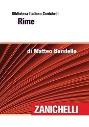 Rime (Biblioteca Italiana Zanichelli) (Italian Edition)