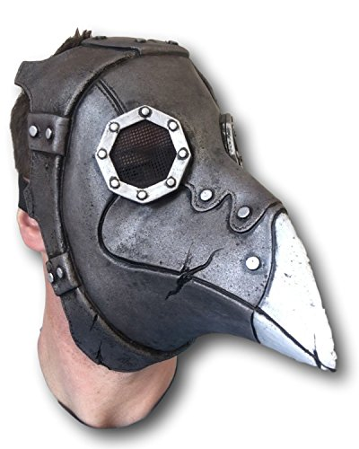 Rubber Johnnies Plague Doctor, Steampunk Long Nose Mask, Latex, Day of The Dead, Bird Beak]()