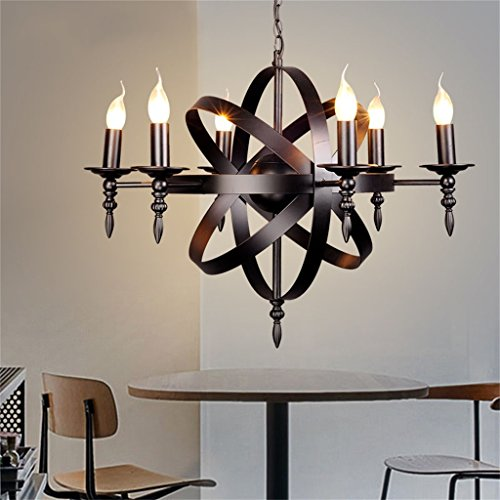 TOYM US-Retro nostalgia iron Arts candle chandelier