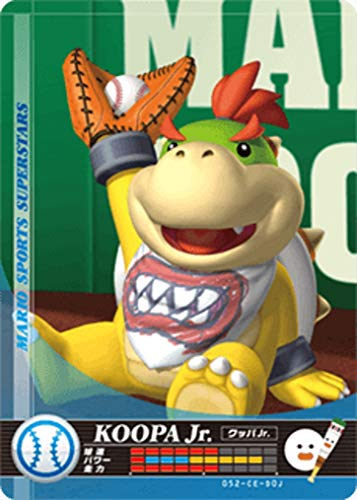 Nintendo Mario Sports Superstars Amiibo Card Baseball Bowser Jr. for Nintendo Switch, Wii U, and 3DS