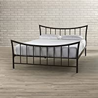 Platform Bed Frame - Contemporary Bronze Metal Bed With Headboard, Footboard And Metal Slats - Twin / Full / Queen Sizes Available - Frame Only - Mattress Not Included (Queen)