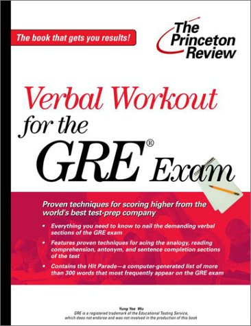 Verbal Workout for the GRE Exam (Princeton Review)