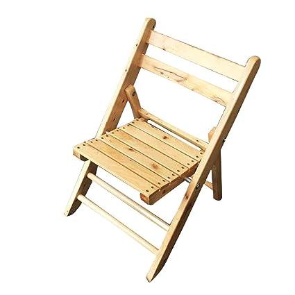 ZXWDIAN Sillón Sillón Plegable de bambú Silla de bambú Silla ...