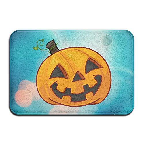 Caromn Rectangle Halloween Pumpkin Area Rugs Pad For Children Play Home Decorator Bedroom Living Room (Halloween Masks San Antonio)