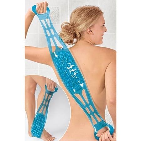 Doppelseitige Rückenbürste & Massageband, Fuß-/Solenreiniger, Dusch- und Badeband Fuß-/Solenreiniger WINNEG