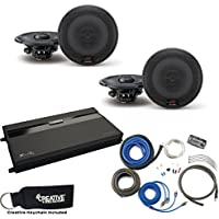 Alpine - Two Pairs Of R-S65 6.5 Coaxial Speakers, a MB Quart ZA2-1600.4 4-Channel Amp & Wire Kit