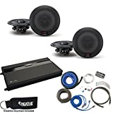 Alpine - Two Pairs Of R-S65 6.5'' Coaxial Speakers, a MB Quart ZA2-1600.4 4-Channel Amp & Wire Kit