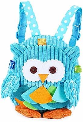 Rejolly Toddler Mini Backpack for Girls Boys Cute 3D Animal Cartoon  Children Preschool Owl Backpack Blue Plush Bag for Kids 449bb8789646f