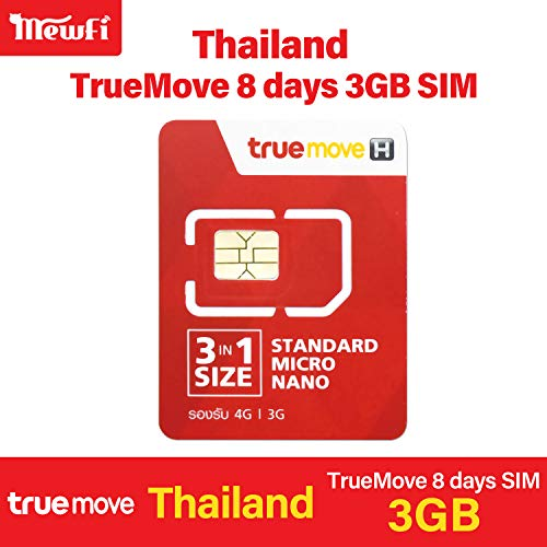 Thailand Truemove 8 Days 4GB 4G Unlimited Low Speed Data 100THB Local Voice& Text