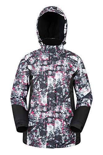 Mountain Warehouse Veste de Ski Dawn Femme – Résistante à la Neige, Chaude, Manteau de Ski à Doublure Polaire, Capuche, Poignets et Bordure Ajustables – Idéal en Hiver