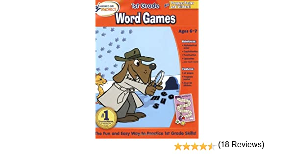 Workbook free phonics worksheets : Hooked on Phonics First Grade Word Games Workbooks: Hooked On ...