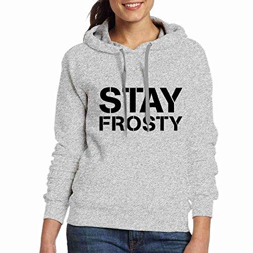 Hoodies Grey Stay DIY Womens Frosty FxtSaqa