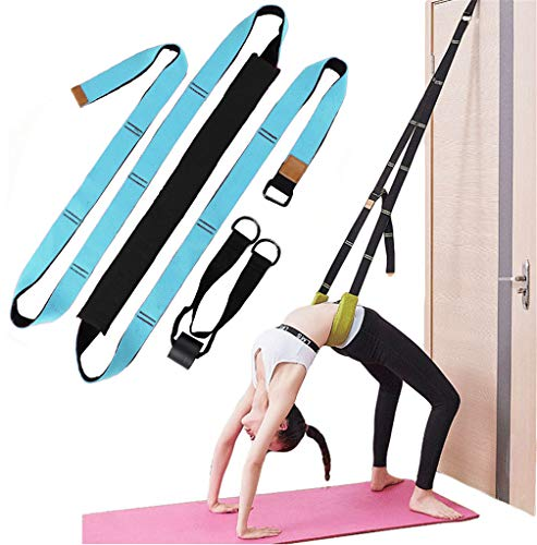 Xemz Back Bend Assist Trainer - Improve Back and Waist Flexibility, Door Flexibility Stretching Strap, Home Equipment for Ballet, Dance, Yoga, Gymnastics, Cheerleading, Splits (Lake Blue)