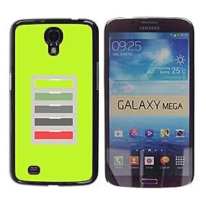 Be Good Phone Accessory // Dura Cáscara cubierta Protectora Caso Carcasa Funda de Protección para Samsung Galaxy Mega 6.3 I9200 SGH-i527 // Green Office Abstract Pattern