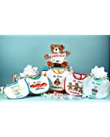 Baby's First Holiday Bibs & Bear Gift Set-Christian