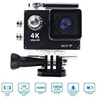 Zuber Ultra 4K Wifi Waterproof Action Camera 2.0 inch DV Camcorder Sport Camera for IOS and Android