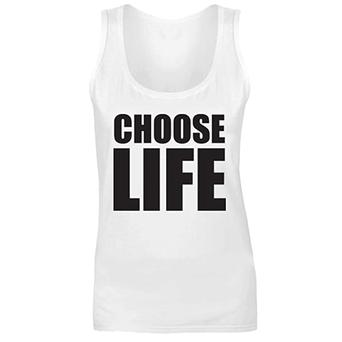 Wham Choose Life Tank Top for Men and Women, White, Red or Grey