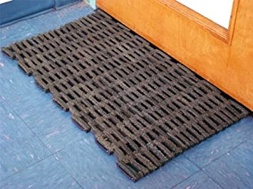 Amazon Com Recycled Rubber Tire Link Mats 36 X 60 Office Products