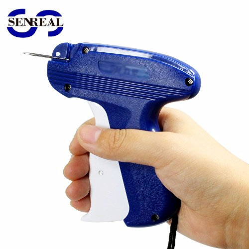 SENREAL Price Label Tag Gun Garments Label Attacher 1 Clothing Label Gun with Comfortable Grip +1000 Barbs Fasteners +6 Upgraded Steel Needles