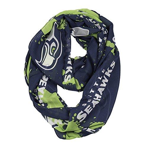 NFL Seattle Seahawks Silky Spatter Infinity Scarf by Littlearth