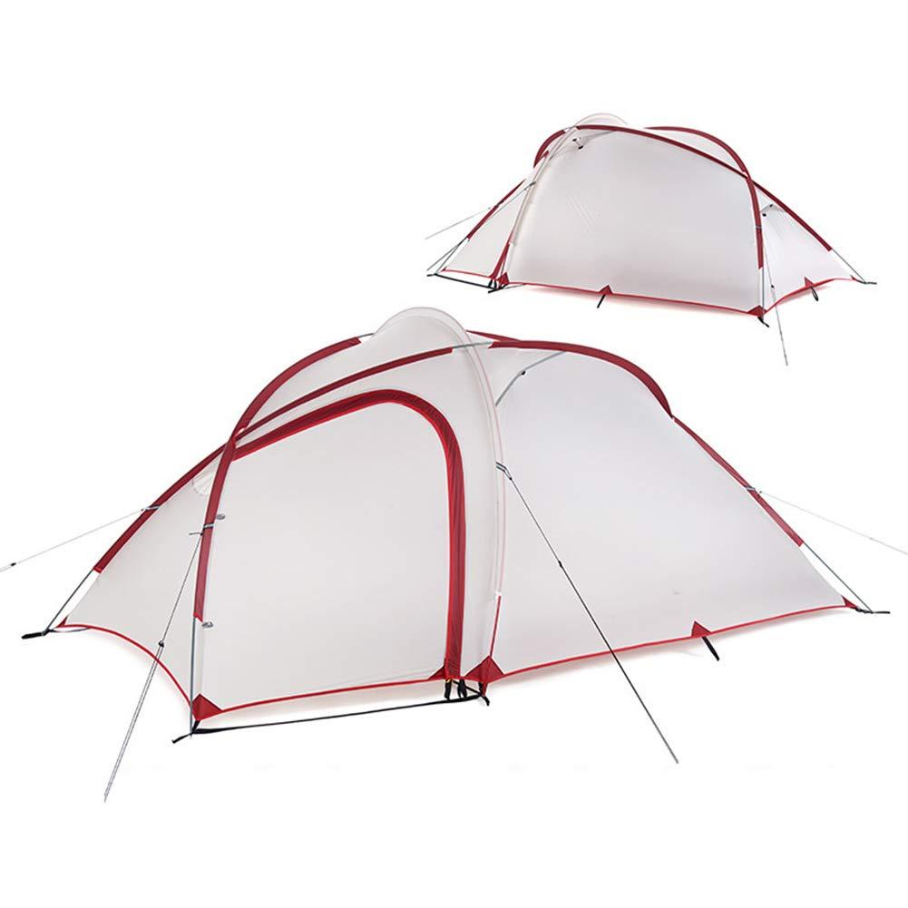 Ysy Outdoor-Zelt Großen Raum 2-4 Personen Familie Camping Camping Doppelt Regensicher Zelt,grauishWeiß