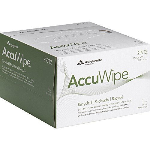 AccuWipe Recycled 1-Ply Delicate Task Wipers, 1 Box of 280 Wipers - 280 Tissues