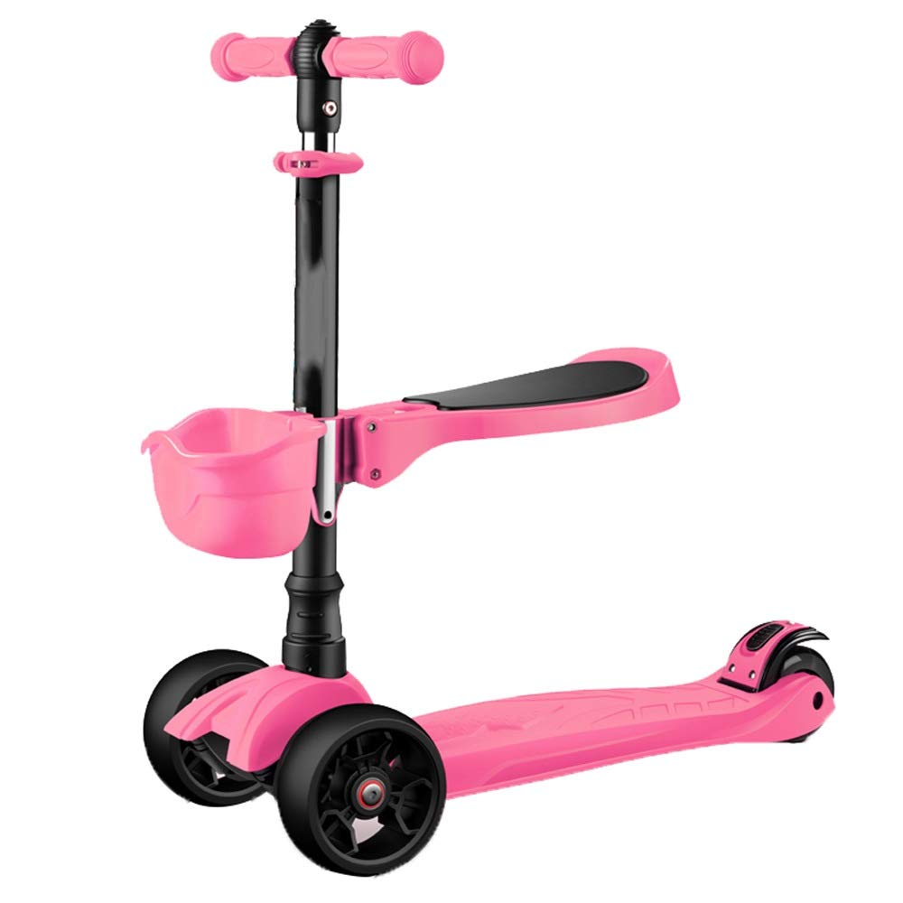 YUMEIGE キックボード本体 子供のための蹴りのスクーターの子供の調節可能な通勤のスクーター1-6歳の誕生日プレゼントの滑らかで速い乗車 利用可能 (色 : ピンク) 利用可能 (色 ピンク YUMEIGE B07R9LHNLZ, 香住町:6f1c2132 --- sametyakan.com.tr