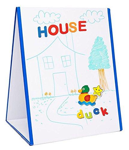 EduKid Toys Dry Erase Whiteboard Easel | Magnetic White Board | Double Sided Tapletop Easel -