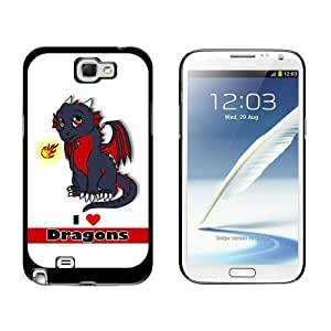 Dragon Baby I Love Heart Dragons Red Case for Samsung Galaxy Note II 2 Black batteryase iphone iphone case for boys