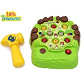 Whack the Vermin Down with This Pop up Whack A Mole Game Set With Fun Soft Tip Rubber Hammer Play Set
