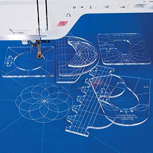 (RL-06 New Ruler Template Sampler Set for Domestic Sewing Machine 1 Set = 6pcs)