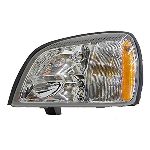 CPP PTM GM2502240 Left Headlamp Assembly Composite for 04-05 Cadillac DeVille