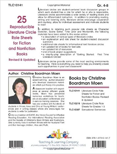 25 Reproducible Literature: Circle Role Sheets for Fiction and ...
